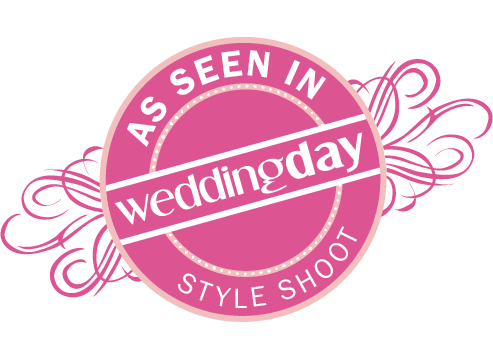 as seen in wedding day style shoot